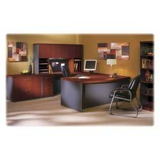 Mayline Aberdeen Tech-Friendly Laminate Desking-Wood Door Hutch,72