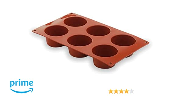 Lacor - 66805 - Molde Muffin 6 Cavidades Silicona - Rojo: Amazon ...