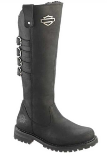 Harley-Davidson Womens Josi Black Leather High Cut Boot (8)