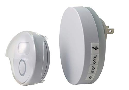 - Wireless Digital Plug In Doorbell Trisonic 36 Musical Melodies operating at 500 ft LED Flash Auto Learing Door Chime