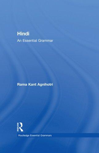 Hindi: An Essential Grammar (Routledge Essential Grammars) Pdf