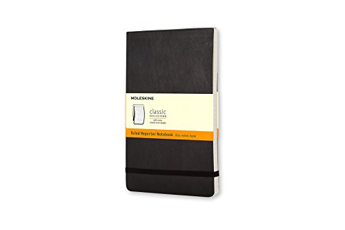 (Moleskine Classic Soft Cover Reporter Notebook, Ruled, Large (5
