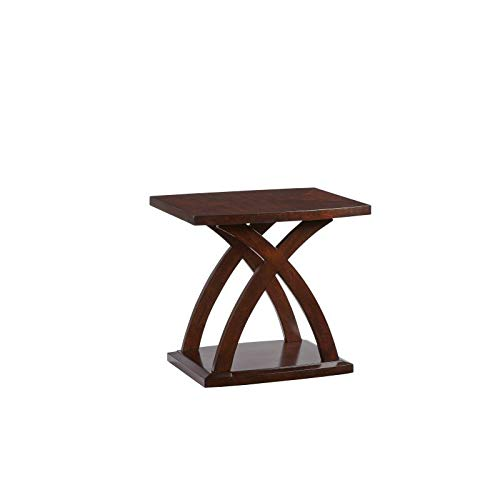 (Progressive Furniture Rectangular End Table in Espresso)