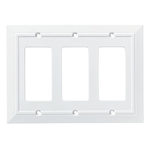 - Franklin Brass W35250-PW-C Classic Architecture Triple Decorator Wall Plate/Switch Plate/Cover, White