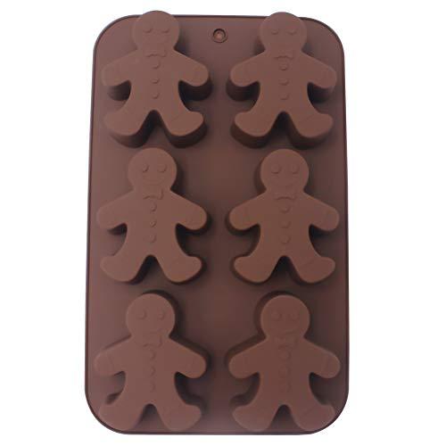 Meltset Silicone Baking Mold Gingerbread Man Chocolate Mold DIY Soap Mold