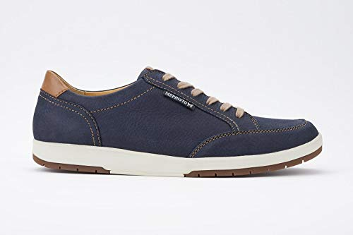 Mephisto Men's Ludo Oxford, Navy/Hazelnut, 10.5 M -
