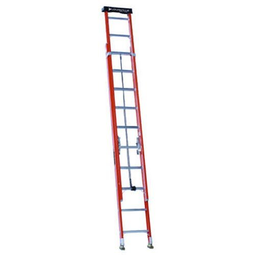 Louisville Ladder 24-Foot Fiberglass Extension Ladder, 300-Pound Capacity, L-3022-24PT (24' Residential Ladder)