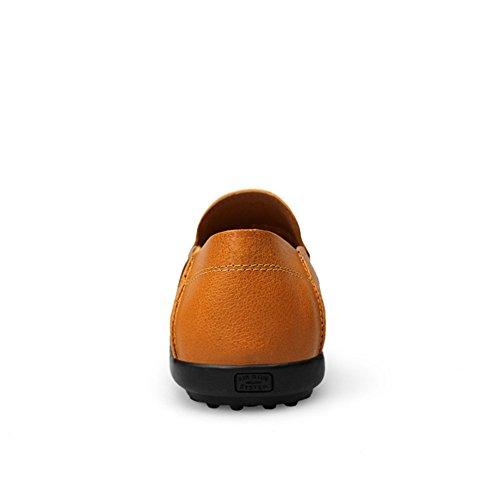 Rismart Mens Högsta Kvalitet Äkta Läder Loafers Sommaren Andas Lufthål Driv Skor Tan 9953 Us10