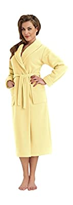 Womens Bathrobe Dressing Gown Housecoat Collar, Belt and Pockets