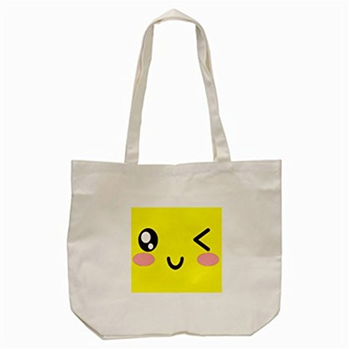 Wink Eyes Cartoon Yellow Tote Bag (Cream) for sale  Delivered anywhere in USA