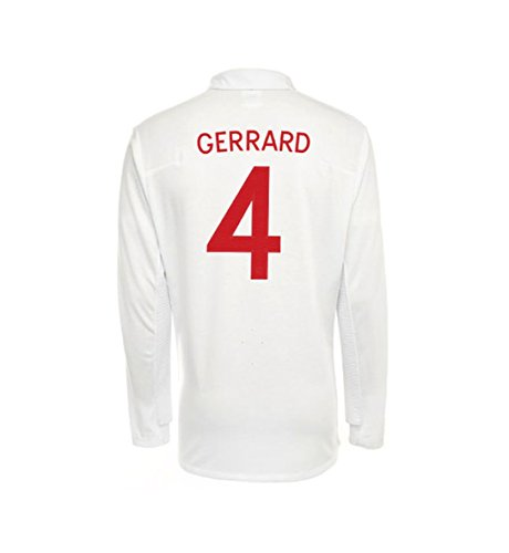 Umbro GERRARD #4 England Home Jersey Long Sleeve (2XL) ()