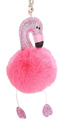 Youngate Keychains Handmade Flamingo Birds Shape Mini