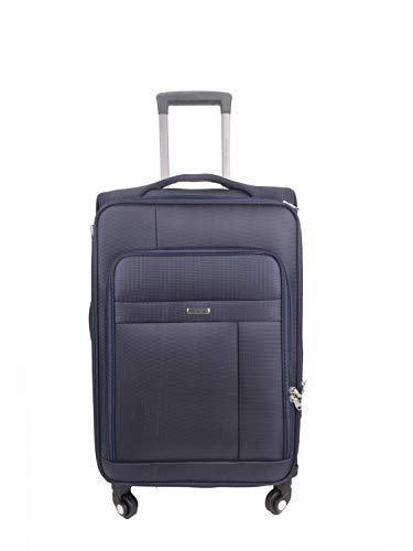 Times Bags 13TB4WS 20 Inch Nylon Fabric Blue Cabin Luggage
