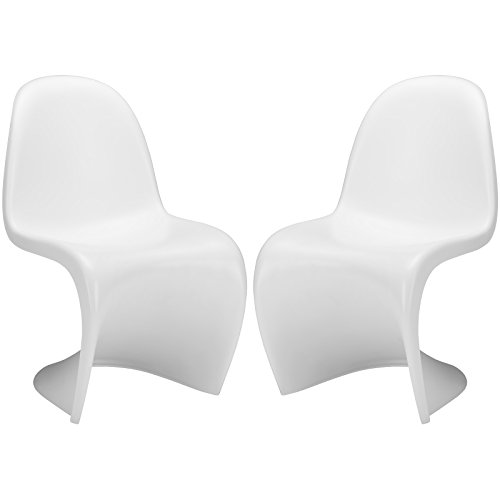 Vitra Set Chair - Poly and Bark S Chair in White (Set of 2)
