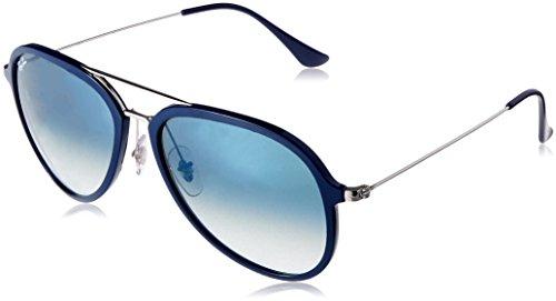 Ray Ban Aviator Blue Green - Ray-Ban RB4298 Aviator Sunglasses, Blue/Green Gradient,