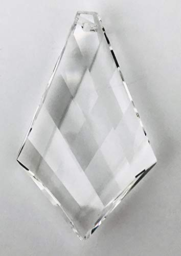 Swarovski Crystal 2'' Clear Faceted Vintage Kite Pendeloque Prism Amazing Clarity & Shine with Strass Logo Engraved