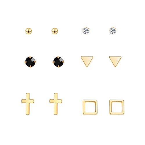 Orcbee  _Personality Metal Geometry Stud Earrings Long Earrings Wild Earrings Set Gift for Women (3A)
