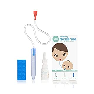 Baby Nasal Aspirator NoseFrida The Snotsucker with 10 Extra Hygiene Filters and All-Natural Saline Nasal Spray by Frida Baby