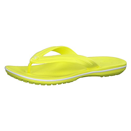 Crocs Crocband Flip Unisex Footwear, Size: 12 D(M) US Mens, Color: Tennis Ball Green/White
