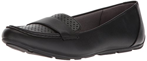 LifeStride Women's Sarina Perf Driving Style Loafer, Black