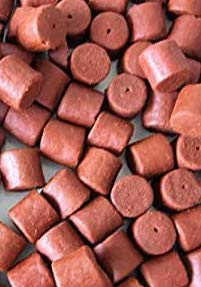 Maltbys' Stores 1904 Limited 400g 20mm PRE DRILLED RED HALIBUT PELLETS FISHING BAIT