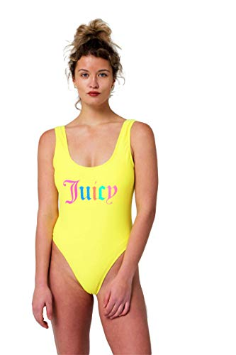 Juicy Couture One Piece Classic Swimsuit (Pastel Yellow, Medium) (Couture Women Swimwear One Piece)