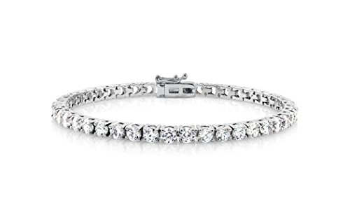 NYC Sterling Cubic Zirconia Classic Tennis Bracelet, White ()