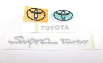 aa9b00fc8f252 Amazon.com: Toyota 1993 to 1998 Supra Turbo A80 Emblem Badge BLACK ...