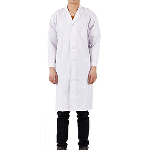 - Nanxson(TM Unisex White Multi Pockets Lab Coat CF9002