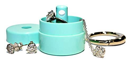 Lion Latch Jewelry Tote Pill Box Keychain Container Jewelry Box Case Storage (Mint)