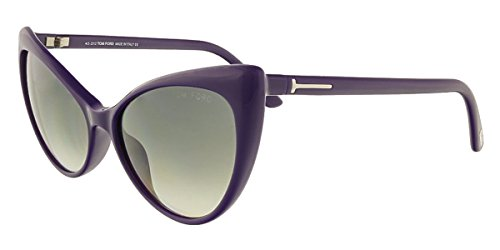 Tom Ford Women's  Designer Sunglasses, Shiny Blue