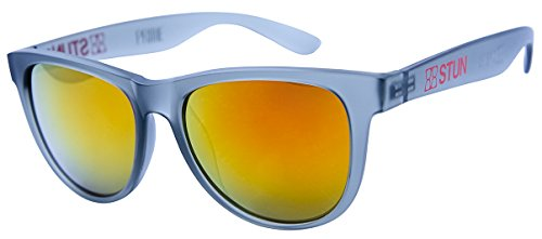 STUN Prime Mars Wayfarer Sunglasses (Frosted Gray) Unisex - Sunglasses Mars