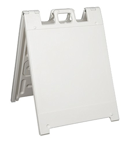 Portable Sign Stand - Squarecade 36 A-frame Portable Sign Stand, Color=White by Plasticade