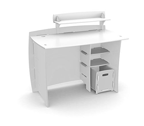 Legaré Furniture Children's Desk with Shelves and File Cart Set for Kids, White