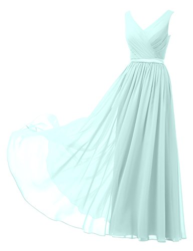 Buy light blue and pink prom dress - 6