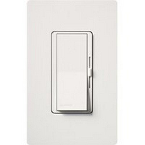 Lutron DVWCL-153PH-WH White Single Pole Or 3 Way CFL/LED Dimmer With Wall Plate