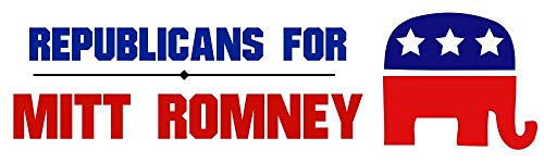 HZ Graphics Magnet Republicans for Mitt Romney 2012 Election Mitt Romney Vinyl Magnetic Car Bumper Magnet Sticker 5