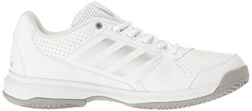 Zapatillas Adidas Adizero Attack Tennis Blanco / Plata Metalizado / Gris Medio Heather