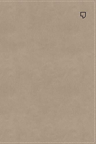 NET Bible, Thinline Large Print, Leathersoft, Stone, Thumb Indexed, Comfort Print: Holy Bible ()