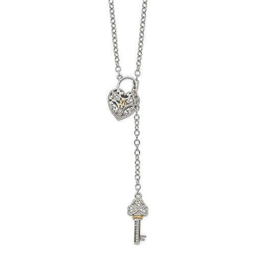 - ICE CARATS 925 Sterling Silver 14kt Diamond Heart Lock Key Chain Necklace Pendant Charm S/love Fine Jewelry Ideal Gifts For Women Gift Set From Heart