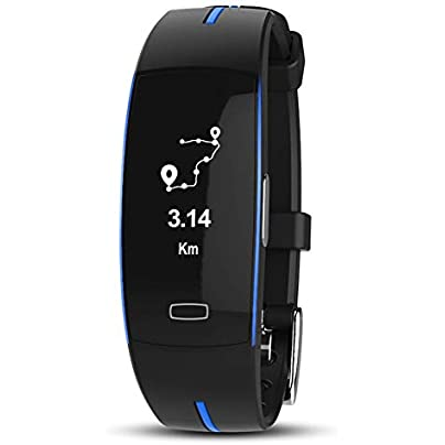 MOOUK Smart Bracelet Fitness Tracker IP67 Waterproof Intelligent Sport Wristband PPG ECG Monitor Blood Pressure Heart Rate Monitor with Pedometer Sleep Analysis Message Push USB Rechargeable Estimated Price £28.99 -