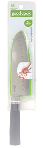 Good Cook Pro 7-Inch High Carbon Stainless Santoku Knife with Sheath
