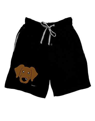 Retriever Mens Shorts - TooLoud Cute Chocolate Labrador Retriever Dog Adult Lounge Shorts - Black- Large