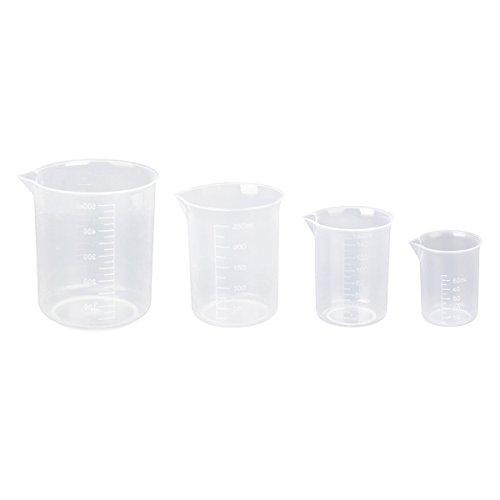 Pixnor Kunststoff Becher-Set - 4 Größen - 50, 150, 250 und 500ml