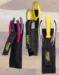 Nylon Clip On Double Sheath w/Security Strap