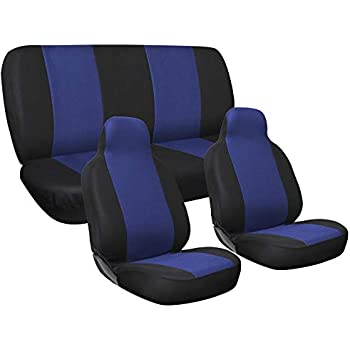 Flying Banner 11 PCS Full Set Universal Seat Covers Purple Color Faux Leather Polyester Double Sponge Mesh Cushioned fit Car Truck Van SUV