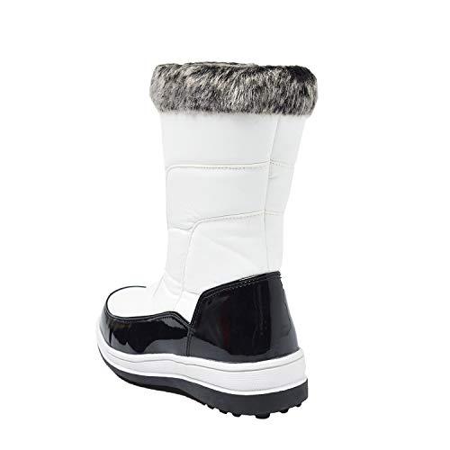 Invernali Bianco Scarpe Shenji Neve Stivali Da Donna H7628 6OwqC