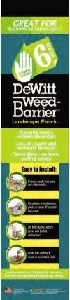 Dewitt Company 6YR6300 Landscape Weed-Barrier Fabric, 6-Feet