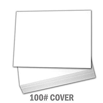 Hamilco Bright White Cardstock Cards: 100-Pack 5X7 Heavyweight Cardstock Printable Blank Cards Set