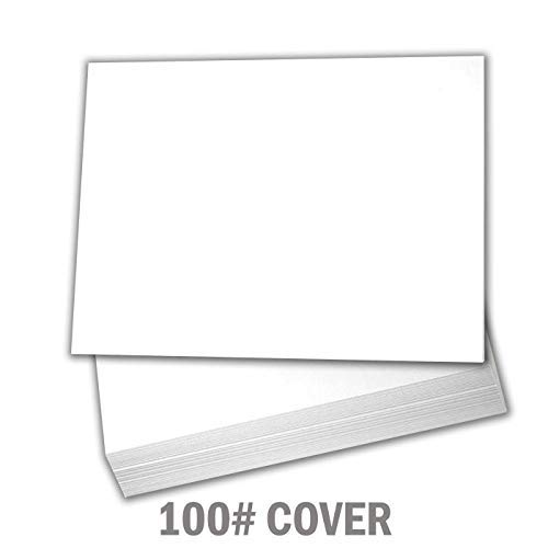 Hamilco White Cardstock Thick Paper - Blank Index Flash Note & Post Cards - Greeting Invitations Stationary 5 X 7 Heavy Weight 100 lb Card Stock for Printer – 100 Pack